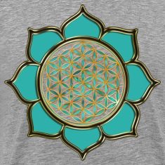FLOWER OF LIFE - lotus ocean green | men's 3XL shi