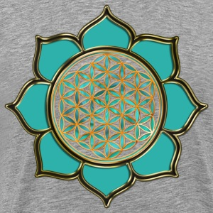 FLOWER OF LIFE - lotus ocean green | men's 3XL shi - Men's Premium T-Shirt