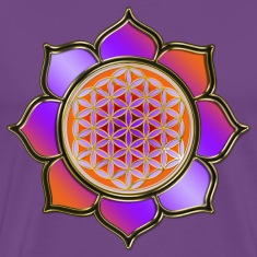 FLOWER OF LIFE - Lotus orange violet | men's heavy