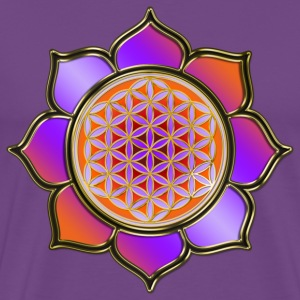 FLOWER OF LIFE - Lotus orange violet | men's heavy - Men's Premium T-Shirt