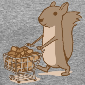 Squirrel Grocery Shopping T-shirt - Men's Premium T-Shirt