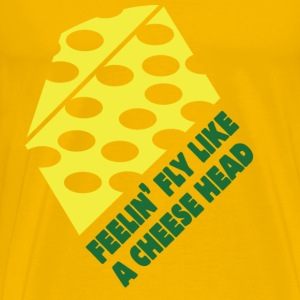 Men's t-shirt Feelin Fly like a Cheesehead | Digimani - Men's Premium T-Shirt