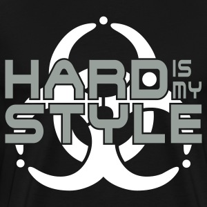 HARD IS MY STYLE - hardstyle vector | men's 3XL sh - Men's Premium T-Shirt