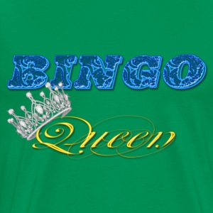 bingo queen crown blue styles T-Shirts - Men's Premium T-Shirt
