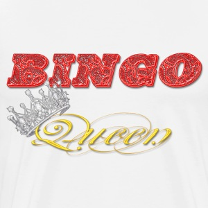 bingo queen crown red styles T-Shirts - Men's Premium T-Shirt