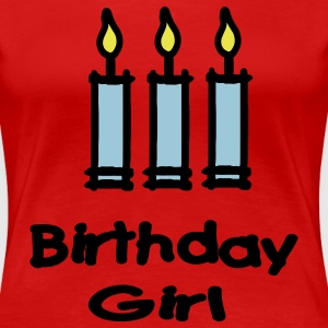 Birthday Girl With 3 Candles Plus Size - Women's Premium T-Shirt