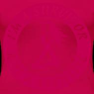 Design ~ I'm a Survivor Not a Statisitc - Women's Plus Size Pink Ribbon Tee