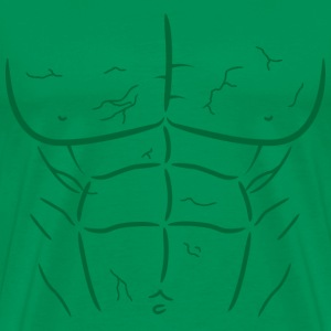 Green Fake Abs and Muscles T-shirt - Men's Premium T-Shirt