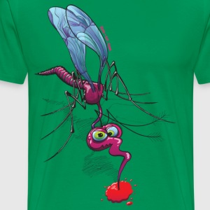 Mosquito Sucking Blood T-Shirts - Men's Premium T-Shirt