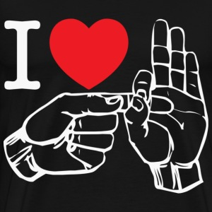 i love fucking T-Shirt (black) - Men's Premium T-Shirt