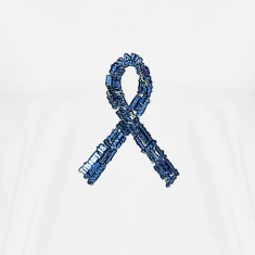trisomy_18_ribbon_with_art_stroke T-Shirts