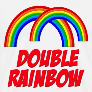 Double Rainbow T-Shirts - Men's Premium T-Shirt