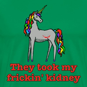 Charlie Unicorn They Took My Frickin' Kidney T-Shirts - Men's Premium T-Shirt