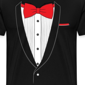 Fake Tuxedo Red Tie T-shirt - Men's Premium T-Shirt