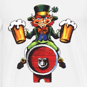 Drinking Leprechaun - Men's Premium T-Shirt