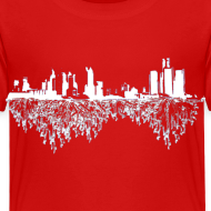Design ~ Detroit Skyline With Roots Toddler T-Shirt