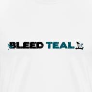 Design ~ Bleed Teal Men's White T-Shirt