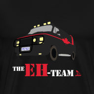 Design ~ The Eh Team Men's Black T-Shirt