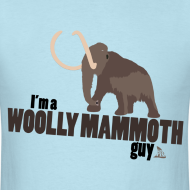 Design ~ Wooly Mammoth Guy Men's Sky Blue T-Shirt