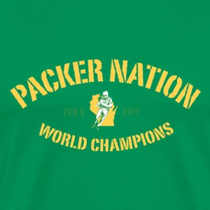 Packer Nation green - Men's Premium T-Shirt