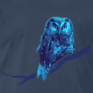 animal t-shirt owl owlet fowl bird night hunter game prey wings feather - Men's Premium T-Shirt