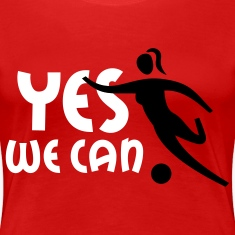YES WE CAN - women soccer | women's plus size basic shirt