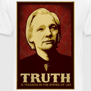 Assange Truth Is Treason  T-Shirts - Men's Premium T-Shirt