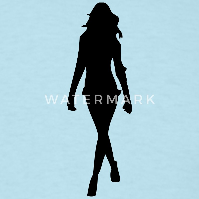 sexy - girl - girls - woman - women - sex - love - heart - model - models - silhouette - Men's T-Shirt
