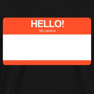 Hello! My name is ... (Red)  - Men's Premium T-Shirt