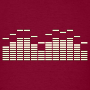 Equalizer Frequency DJ Sound Music Beat Pop Techno discjockey record T-Shirts - Men's T-Shirt