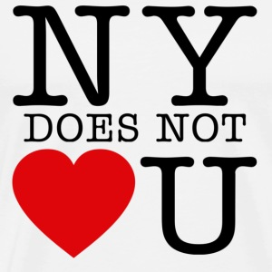 NY Does Not Love U T-Shirts - Men's Premium T-Shirt