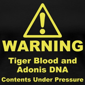 Warning! Tiger Blood and Adonis DNA Plus Size - Women's Premium T-Shirt