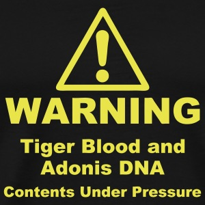 Warning! Tiger Blood and Adonis DNA T-Shirts - Men's Premium T-Shirt