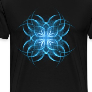 Tribal Ice - blue geometric fractal art  - Men's Premium T-Shirt