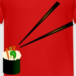 Cute Sushi Roll With Fancy Chopsticks--DIGITAL DIRECT PRINT Toddler Shirts - Toddler Premium T-Shirt