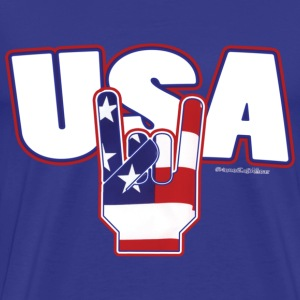 usa rocks 4th of July T-Shirts - Men's Premium T-Shirt