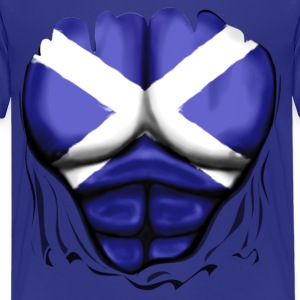 Scotland Flag Ripped Muscles, six pack, chest t-shirt - Kids' Premium T-Shirt
