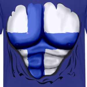 Finland Flag Ripped Muscles, six pack, chest t-shirt - Kids' Premium T-Shirt