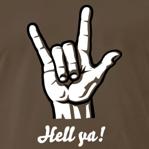 Devil Metal Rock Hand (short) 2c T-Shirts - Men's Premium T-Shirt