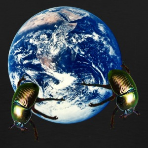 dung beetle earth T-Shirts - Men's Premium T-Shirt