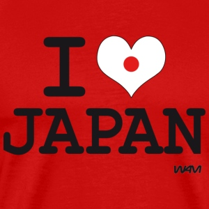 I love JAPAN - flag T-Shirts - Men's Premium T-Shirt