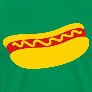 hotdog with mustard T-Shirts - Men's Premium T-Shirt