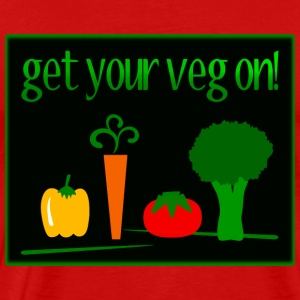 Get Your Veg On! With 4 Veggies--DIGITAL DIRECT PRINT T-Shirts - Men's Premium T-Shirt