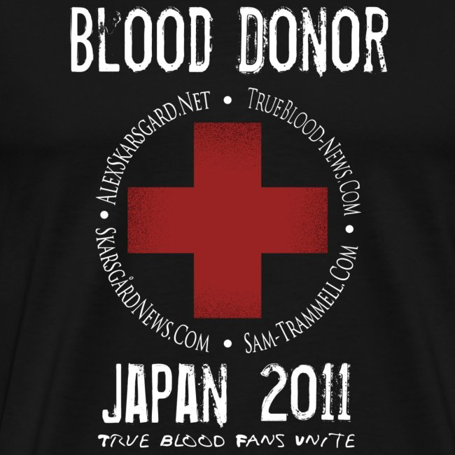 True Blood Donor - URL - Aid to Japan (Black)