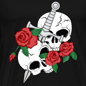 Skulls, Roses and Dagger T-Shirts - Men's Premium T-Shirt
