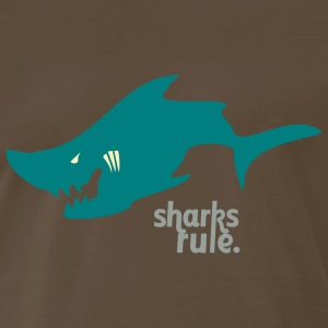 The Sharks Rule t-shirt takes a bite out of lame! - Men's Premium T-Shirt