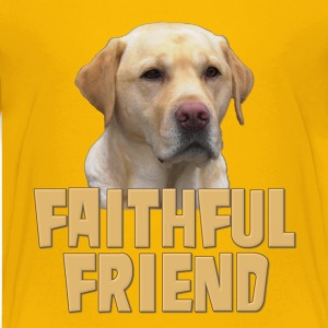 Yellow Lab Faithful Friend Kids' Shirts - Kids' Premium T-Shirt