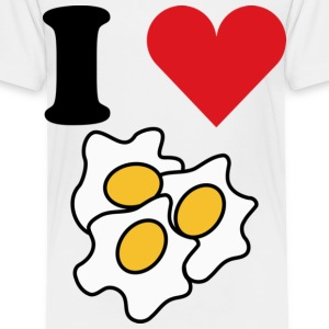 I Love Eggs Toddler Shirts - Toddler Premium T-Shirt