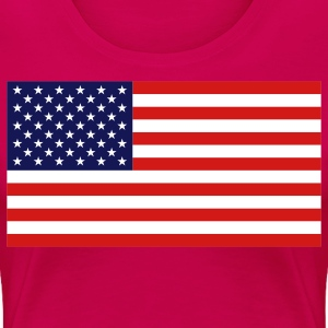 American Flag Plus Size - Women's Premium T-Shirt