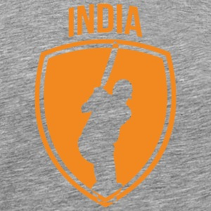 India Cricket Crest - Men's Premium T-Shirt